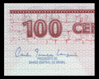 Brésil, P-198a, 100 cruzeiros, 1981
