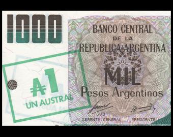 Argentina, P-320,1 austral, 1985