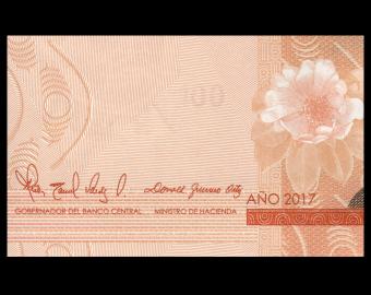 Rép Dominicaine, P-190d, 100 pesos, 2017