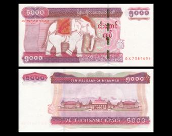 Myanmar, P-83, 5000 kyats, 2014