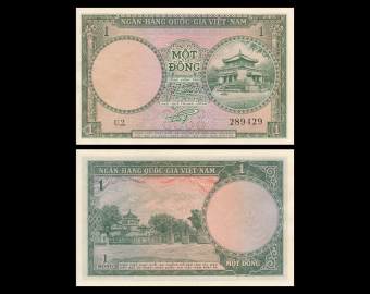 Vietnam South, P-01, 1 dông, 1956