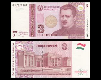 Tajikistan, P-20, 3 somoni, 2010