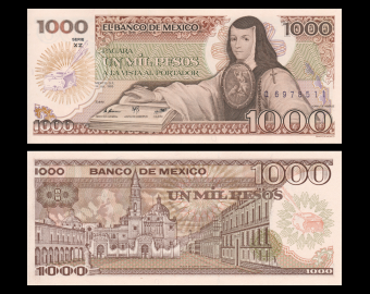 Mexico, P-085(6), 1000 pesos, 1985