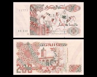 Algeria, p-138b, 200 dinars, 1992