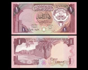 Koweit, P-13d,1 dinar, 1980
