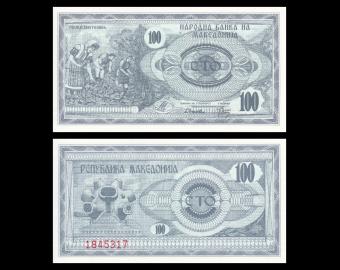 Macedonia, P-04, 100 denari, 1992