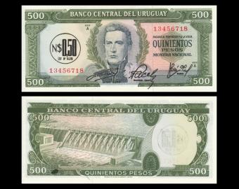 Uruguay, P-54, 0,50 nuevos pesos, 1975