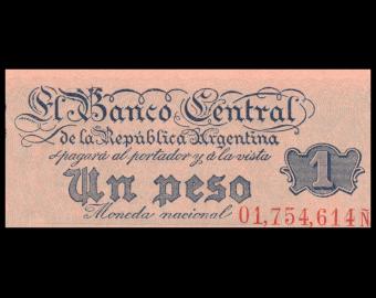 Argentine, P-262, 1 peso, 1951