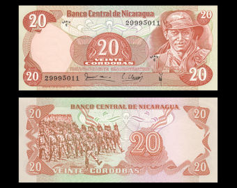 Nicaragua, P-135, 20 cordobas, D1979