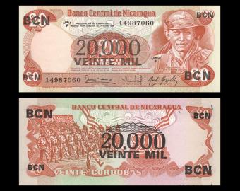 Nicaragua, P-147, 20 000 cordobas, 1987