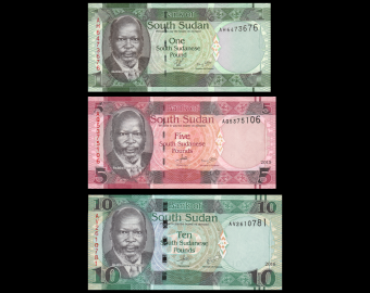 South Sudan, Serie 3 banknotes, 16 pounds
