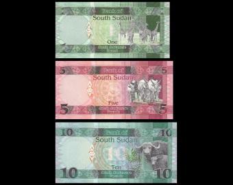Soudan du Sud, Série 3 billets, 16 pounds
