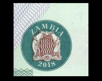 Zambia, P-58b, 10 kwacha, 2018