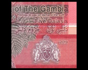 Gambie, P-37, 5 dalasis, 2019
