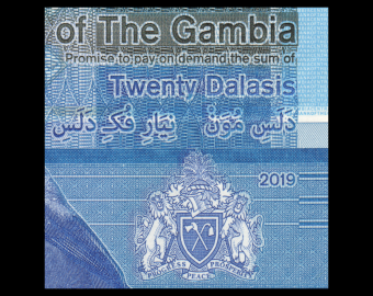 Gambia, P-39, 20 dalasis, 2019