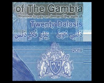 Gambie, P-39, 20 dalasis, 2019