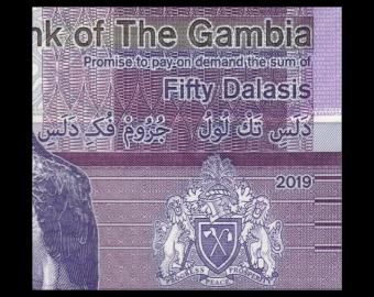 Gambia, P-40, 50 dalasis, 2019