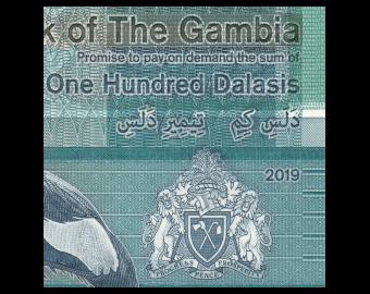 Gambia, P-41, 100 dalasis, 2019