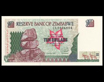Zimbabwe, P-06, 10 dollars, 1997