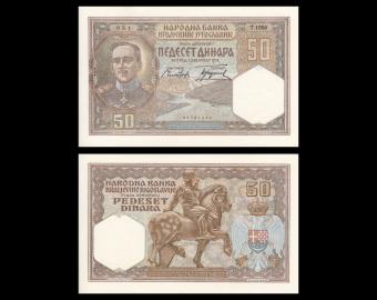Yugoslavia, P-028, 50 dinara, 1931