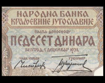 Yougoslavie, P-028, 50 dinara, 1931
