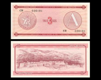 C, P-FX02, 3 pesos, 1985