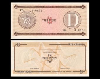 C, P-FX033, 3 pesos, 1991