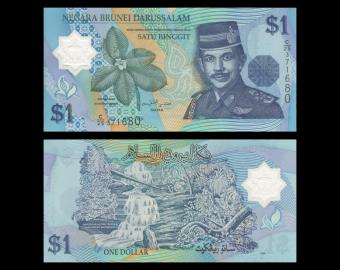 Brunei Darussalam, P22a, 1 ringgit, Polymer, 1996