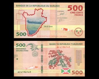 Burundi, p-50b, 500 francs, 2018