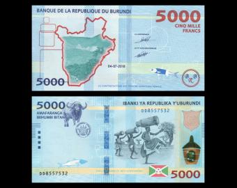 Burundi, P-53b, 5.000 francs, 2018