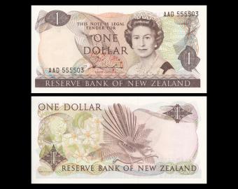 New Zealand, P-169a, 1 dollar, 1981