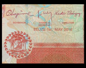 Belize, P-67g, 5 dollars, 2016