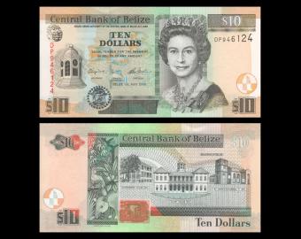 Belize, P-68e, 10 dollars, 2016