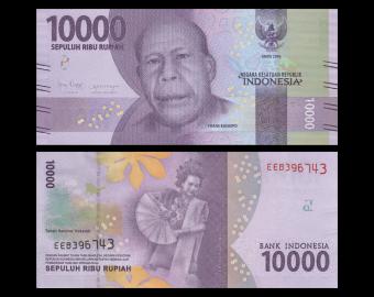 Indonésie, P-157d, 10 000 rupiah, 2018