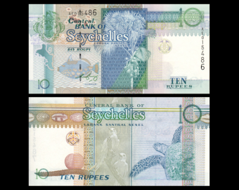 Seychelles, P-36b, 10 rupees, 2008