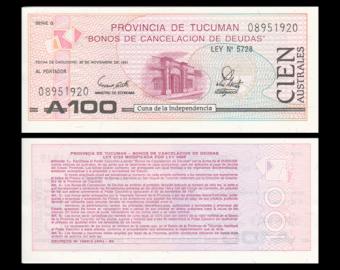 Tucuman, P-S2715, 100 australes, 1991