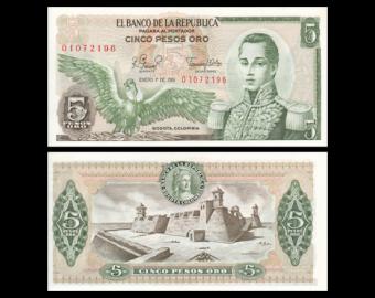 Colombia, P-406f, 5 pesos oro, 1981