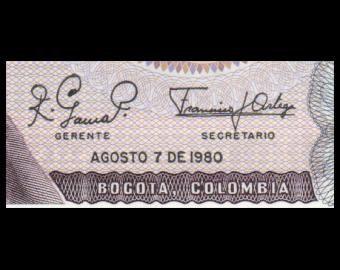 Colombia, P-407h, 10 pesos oro, 1980
