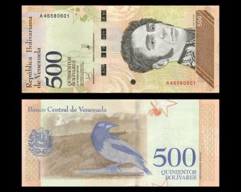 Venezuela, P-108a, 500 bolívares soberanos, 2018