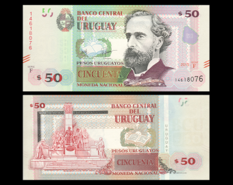 Uruguay, P-94a, 50 pesos, 2015