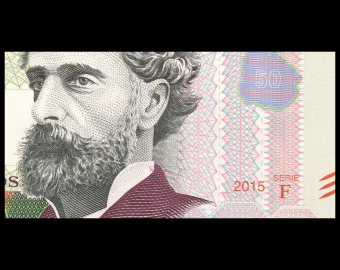 Uruguay, P-094a, 50 pesos, 2015