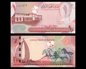 Bahreïn, P-26, 1 dinar, 2008