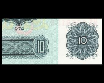 Bulgarie, P-096b, 10 leva, 1974