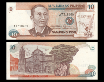 Philippines, P-169a, 10 piso, 1985-1994