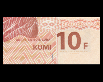 Congo, P-93, 10 francs, 2003