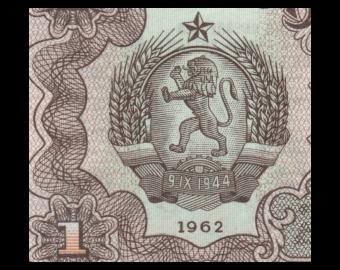 Bulgaria, P-088, 1 lev, 1962