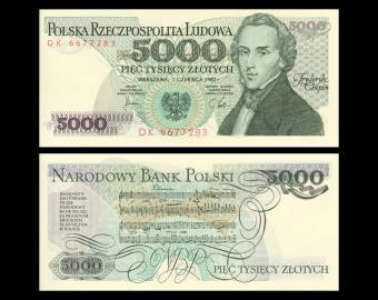Pologne, P-150a, 5000 zlotych, 1982