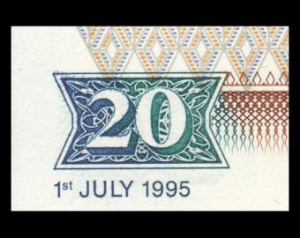 Kenya, P-32, 20 Shilingi, 1995