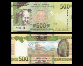 Guinée, P-new, 500 francs, 2018