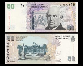 Argentine, P-356g, 50 pesos, 2015